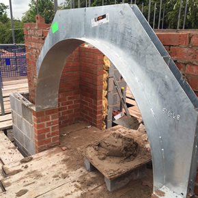 Bespokle arch lintels for Ford Lane development
