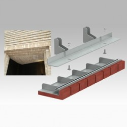 Nexus system for brick-faced soffits
