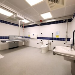 Accessible Changing Places toilet at Teeside University