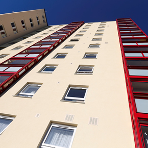 Replacement windows and curtain walling specified for Broomhead flats refurbishment
