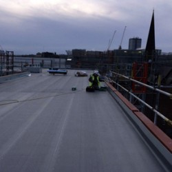 Protan roofing membranes at Newcastle development