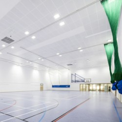 Armstrong ceiling at sports centre on Tisbury Community Campus