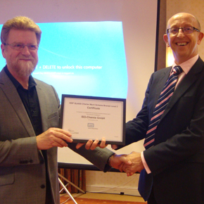 ISO-Chemie received both  full GGF Membership and a Glass Charter Bronze certificate at the event.