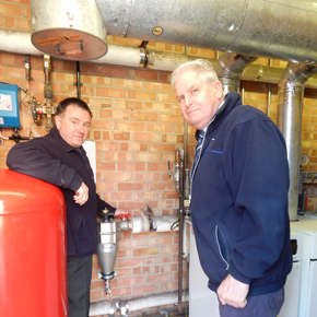 David Mason from Gasway with Michael Mingay from Norfolk Property Services