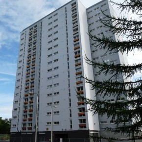 Littleholm after the application of Structherm's Structural External Wall Insulation