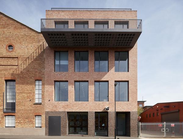 Square view of shop. Newport Street Gallery, London, United Kingdom. Architect: Caruso St John Architects, 2015.