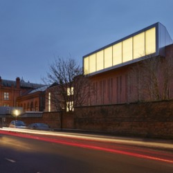 West Elevation Landscape Gallery with Light Well. Whitworth Art Gallery, Manchester, United Kingdom.