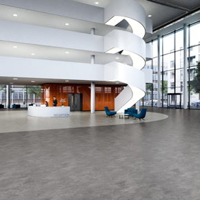 Expona Flow PUR flooring in Light Concrete and Cool Concrete