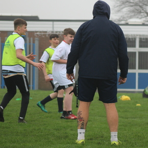 Pupils taking part in the Concrete Rugby sessions