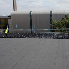 Queen Mary University work whilst Bauder install bituminous system and panels