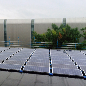 Queen Mary University Library roof featuring Bauder's bituminous roofing system and solar panels