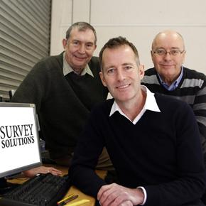 Robert Mullins, EALS; James Cooper, Survey Solutions and Jeff Bate of EALS