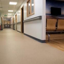 Vinyl safety flooring at Royal Bournemouth Hospital Jigsaw Building