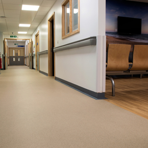 Vinyl safety flooring at Royal Bournemouth Hospital Jigsaw Building