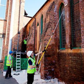 CK Walker Damp Timbers work on Long Eaton Baptist Church.