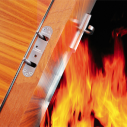Powermatic door closers for fire safety