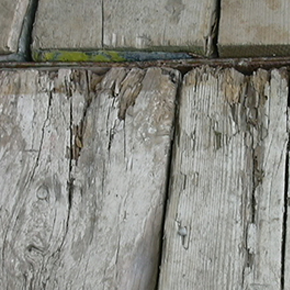 Used timber scaffold