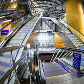 Leeds Station Southern Entrance escalators