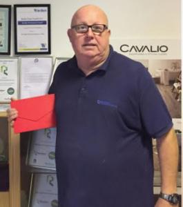 John Scott winning the award for Branagan Flooring Services