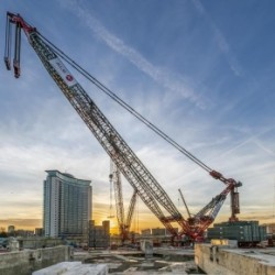 The 120m crane will be working throughout 2017 Source Capital and Counties Properties