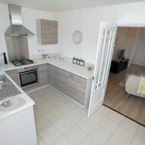 The Tribeca show home kitchen at The Swale, Gainsborough
