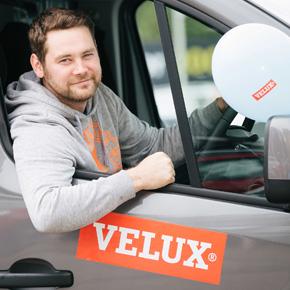 Keven with his van.