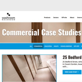 Washroom improves website