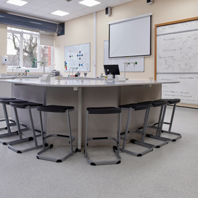 Polysafe safety flooring at Withington Girls School