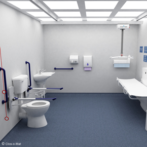 clos-o-mat space to change toilets
