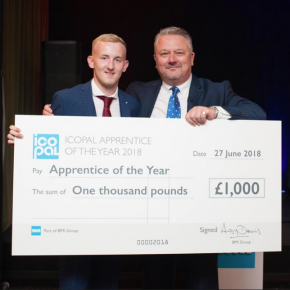 Kieran Forster won Icopal Apprentice of the Year
