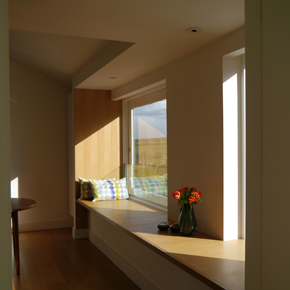 Natural daylight through Knitters Cottage