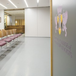 Sika ComfortFloor Pro in at the Royal College of Ophthalmologists in a dusty grey