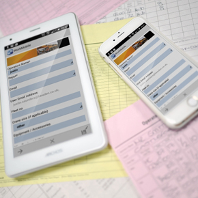 reports converted into digital on mobile devices