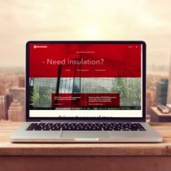 Laptop computer mock up over city skyline. Retro filter effect; Shutterstock ID 298508216