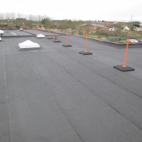 roof refurb for Stockton shool