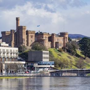 Beautiful Inverness cityscape with river view