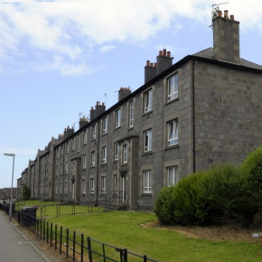 ABERDEEN, SCOTLAND - Granite townhouses