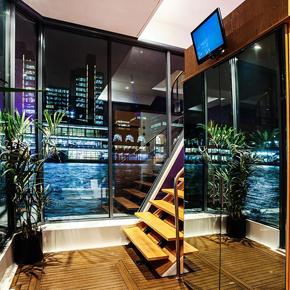 Grip Media boat interior