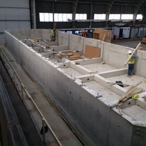 Application of Sika Watertight Concrete solution to concrete hull
