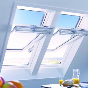 Keylite white painted windows