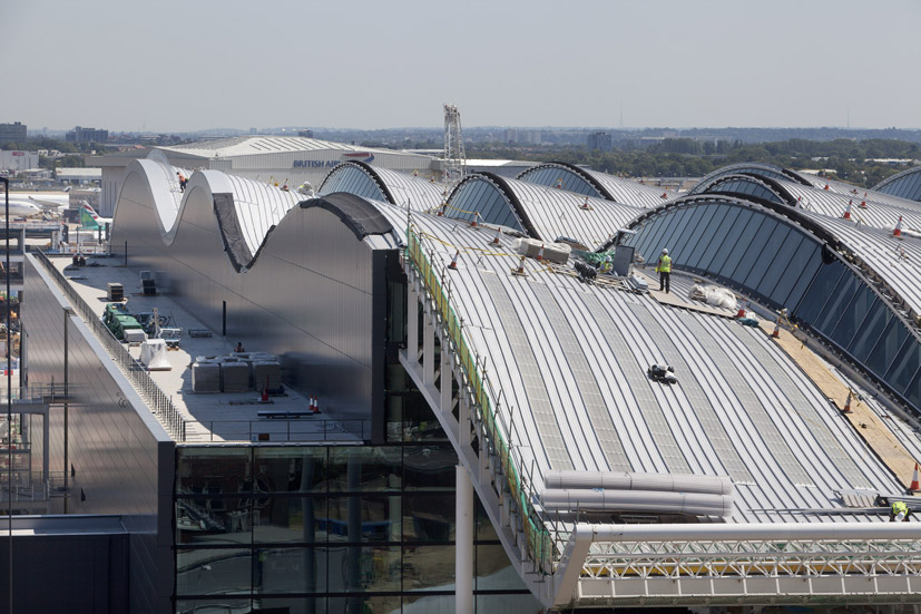 Insulation For Waveform Roof At New Heathrow Terminal 2