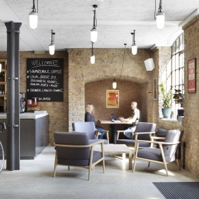Troldtekt acoustic ceiling panels - The Loom