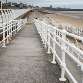 Crown Trade's Metal Gloss system applied across the Aberavon seaside