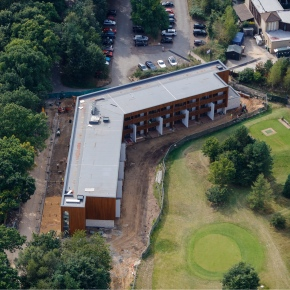 Aerial view Breckland apartments
