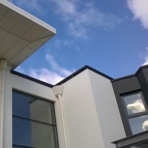 Alumasc Skyline bespoke fascia and soffit system for Jersey residence