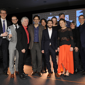 GEZE UK presenting the Office Architect of the Year award
