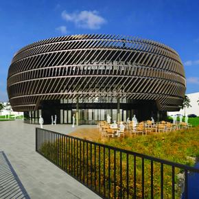 Bond Bryan Architects University of Nottingham, Technology Entrepreneurship Centre extermal with seating cgi