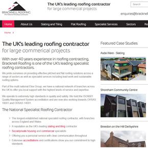Bracknell Roofing new website homepage