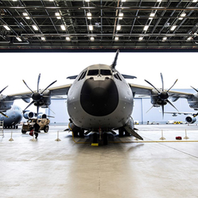 The Brize Norton RAF Hangar, which has recently benefitted from AmbiRad's radiant tube heating system