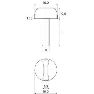 Bülte Form D head screws